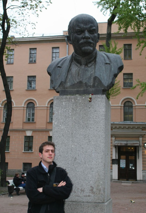 Me and Lenin. In Russia, people don't smile for pictures.