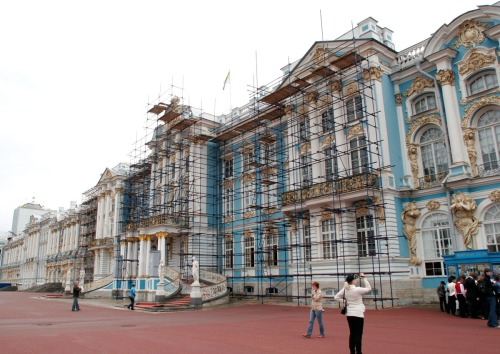 In Russia, things are often under repair, including the palaces.