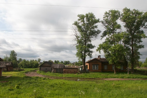 A countryside scene on the way to Vologda.