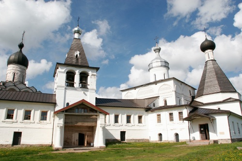 A monastery about 130 kilometers north of the city of Vologda.